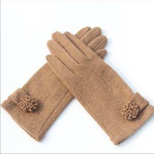 Accessories - CASHMERE LUX Winter Gloves Caramel Brown